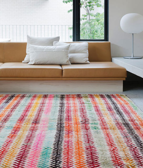 terrific colorful living room rug | Colorful-Livingrooms-With-Rugs-Loom-Old-Yarn-Wheat