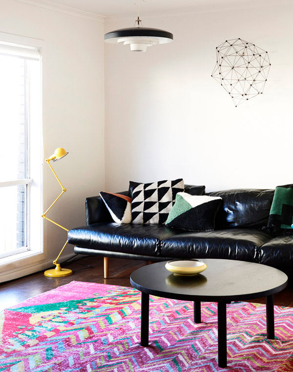10 living room designs with colorful rug - Colorful rugs for living room ...