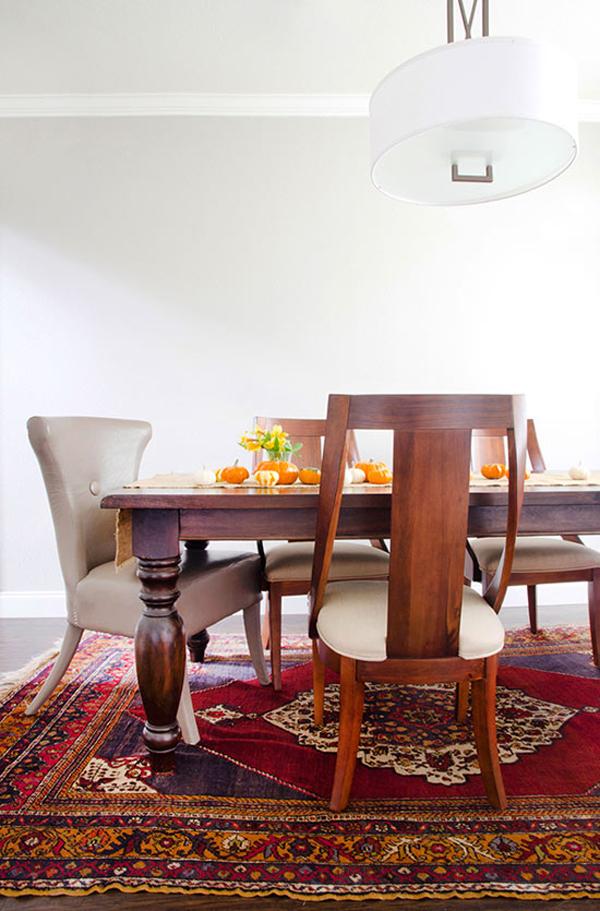 Sarah Stacey Wood Dining Area