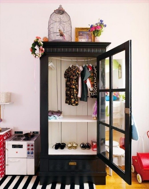 black kids wardrobe. Black Bedroom Furniture Sets. Home Design Ideas