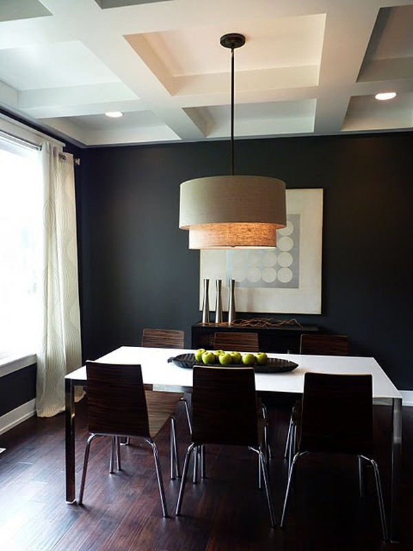 Bold modern dining room for Modern dining room designs 2014