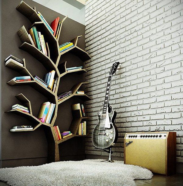 20 Tree Branch Bookshelf Ideas | House Design And Decor