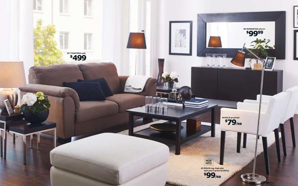 Wonderful Ikea Brown Tidafors Sofa And White Nils Armchair