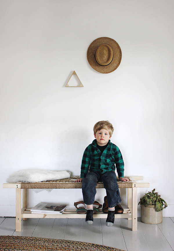 DIY Jute Woven Bench Designs