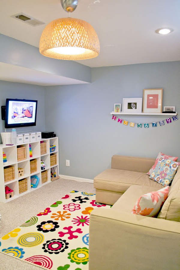 kids basement entertainment area. Black Bedroom Furniture Sets. Home Design Ideas