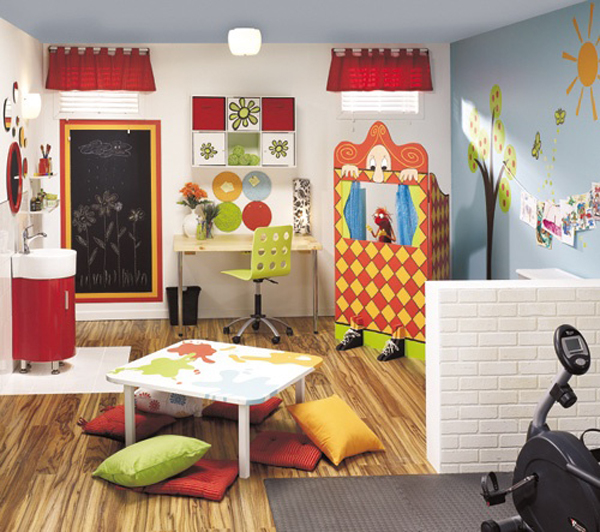 20 stunning basement playroom ideas house design and decor - Playroom decorating ideas ...