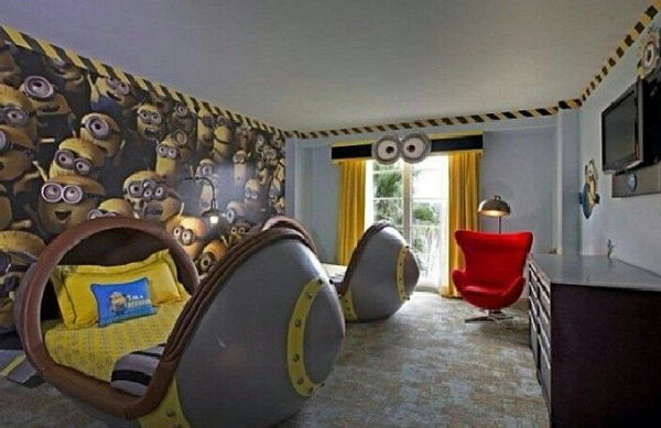 kids minion bedroom decor - Adorable Kids Bedrooms With Minion Ideas House Design And Decor