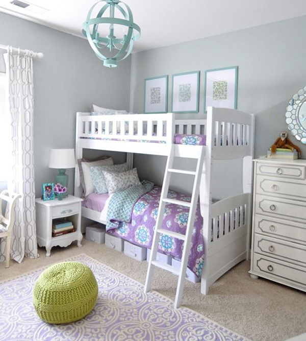 lavender blue girl bedroom