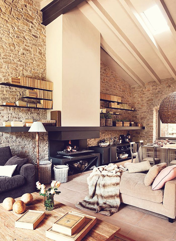 15 Great Stone Interior Ideas