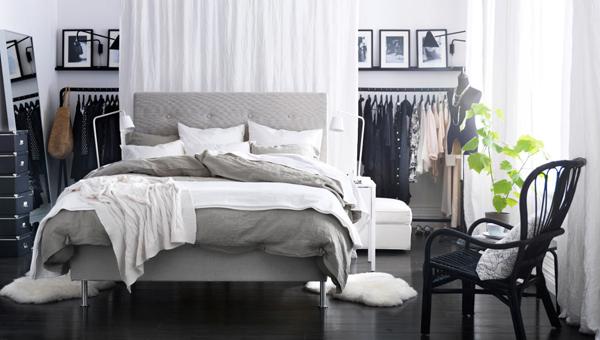 minimalist ikea closet bedroom