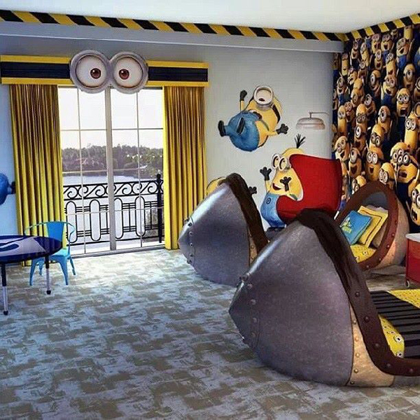 Adorable Kids Bedrooms With Minion Ideas