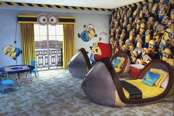 Adorable Kids Bedrooms With Minion Ideas |