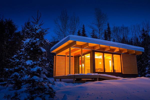 Modern Cabin In Canada National Parks