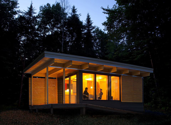 Modern cabin in canada national parks house design and decor for Modern cabin house plans