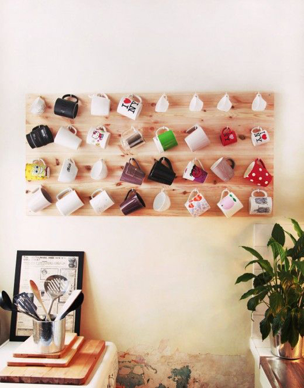 Inspiring Mug Wall Storage Ideas