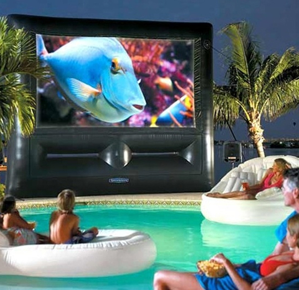 Awesome Backyard Party Ideas : 20 Most Beautiful Outdoor Home Theater Ideas