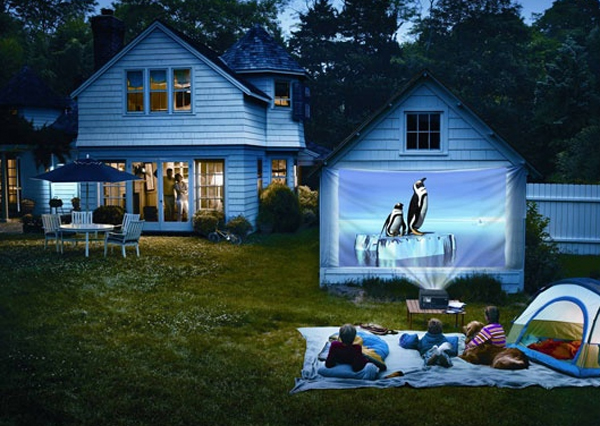 Backyard Theater Ideas : 20 Most Beautiful Outdoor Home Theater Ideas  House Design And Decor