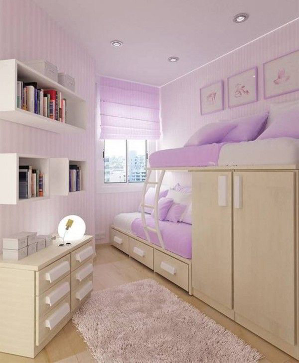 Purple Teenage Girl Bedroom
