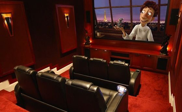 Amazing Red Small Home Theater Designs Part 13