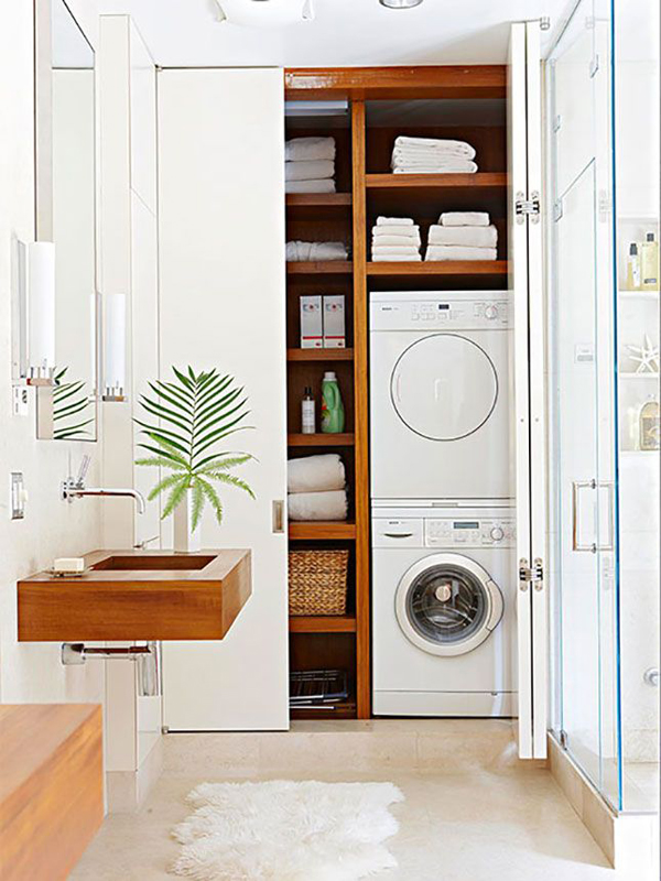 smart laundry room and bathroom combo ideas for small