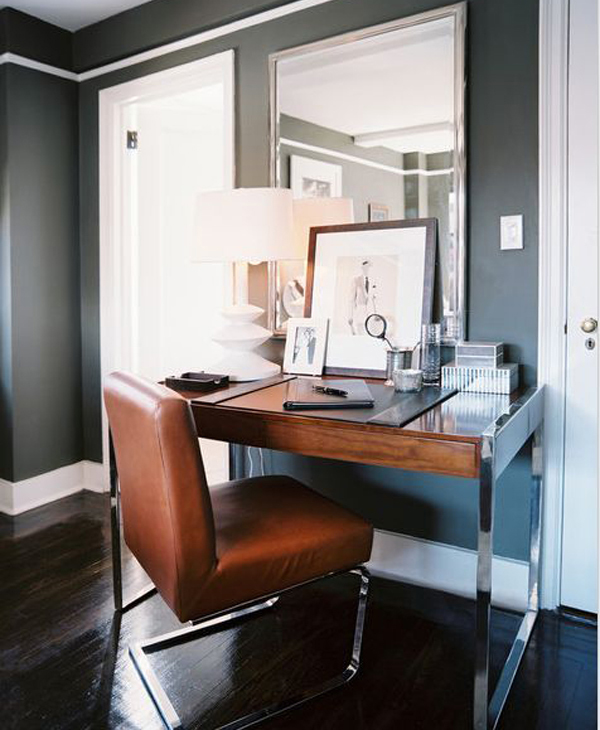 Small-brown-home-office-design