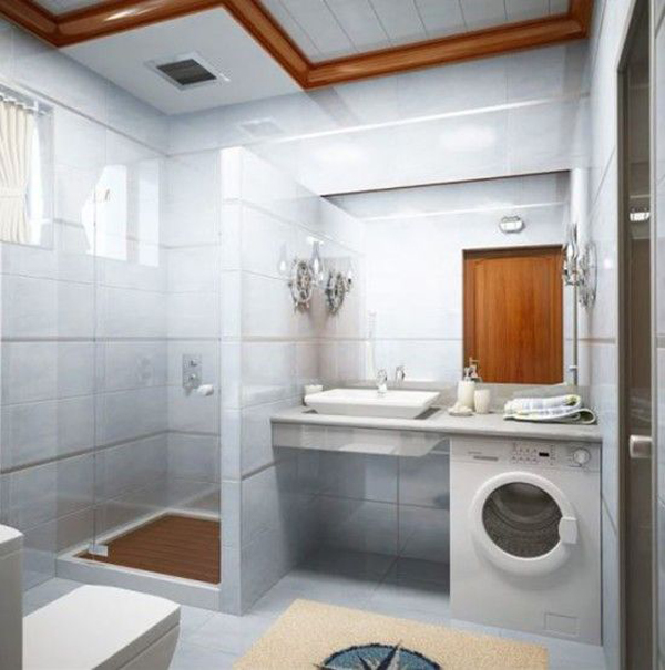 Small laundry bathroom combination for Compact bathroom layout