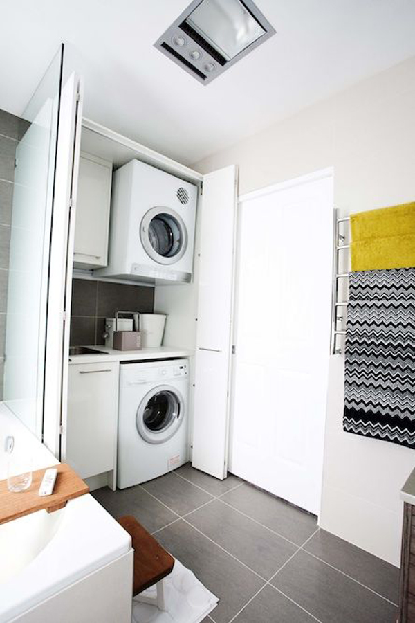 Bathroom Design With Laundry : Small laundry bathroom decor