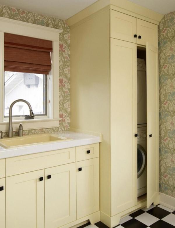 Small Laundry Hidden Cabinet