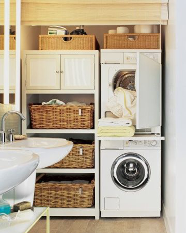 20 small laundry with bathroom combinations house design and decor - Washer dryers for small spaces ideas ...