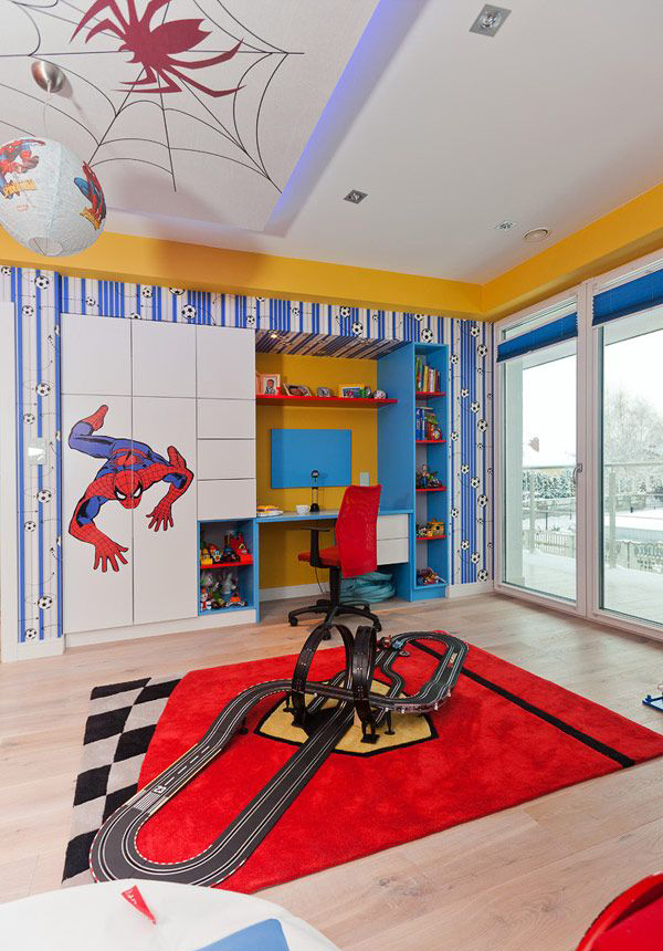 spiderman bedroom.  20 Kids Bedroom Ideas With Spiderman Themed House Design And Decor