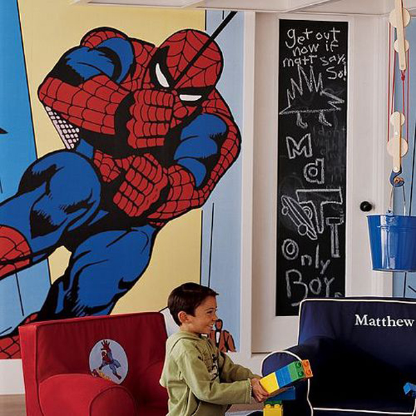 20 kids bedroom ideas with spiderman themed house design and decor