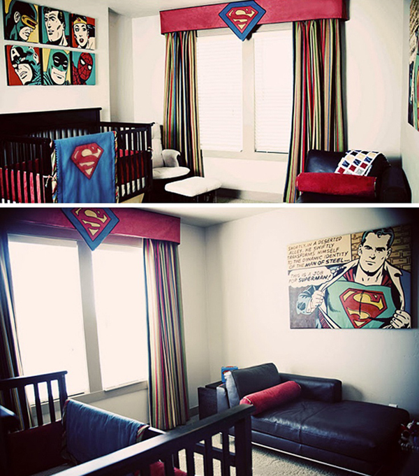 coolest kids bedroom with superman themes house design and decor