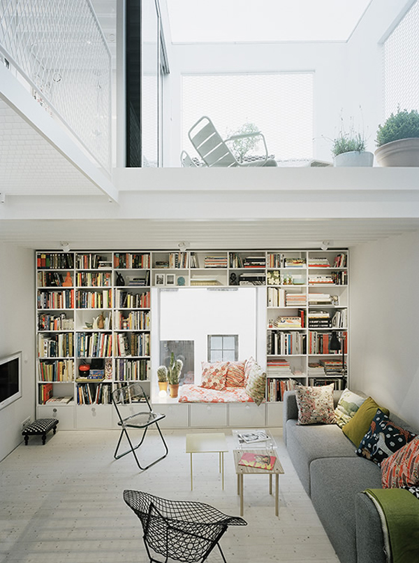 Beautiful White Townhouse From Elding Oscarson House
