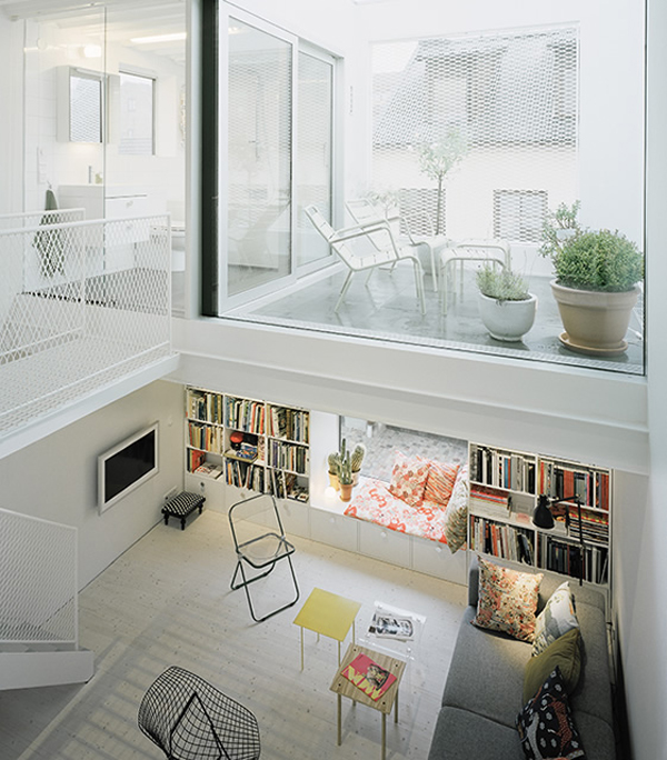 Beautiful white townhouse from elding oscarson house for Townhouse interior design ideas