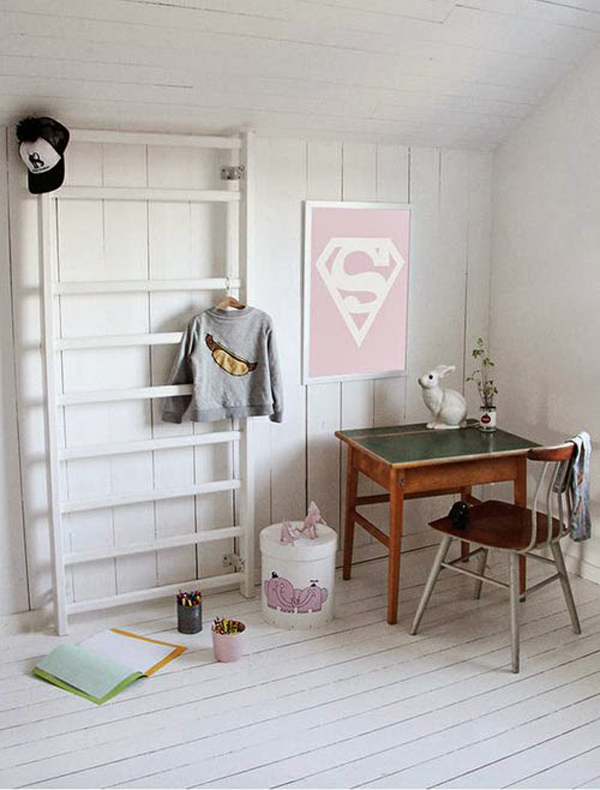 Warm Vintage Desks For Kids