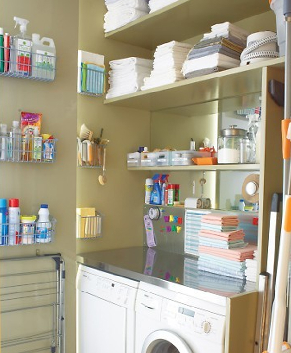white laundry room storage ideas