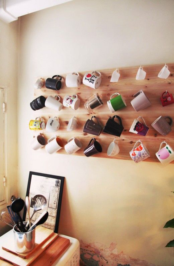 Inspiring mug wall storage ideas house design and decor for Mug racks ideas