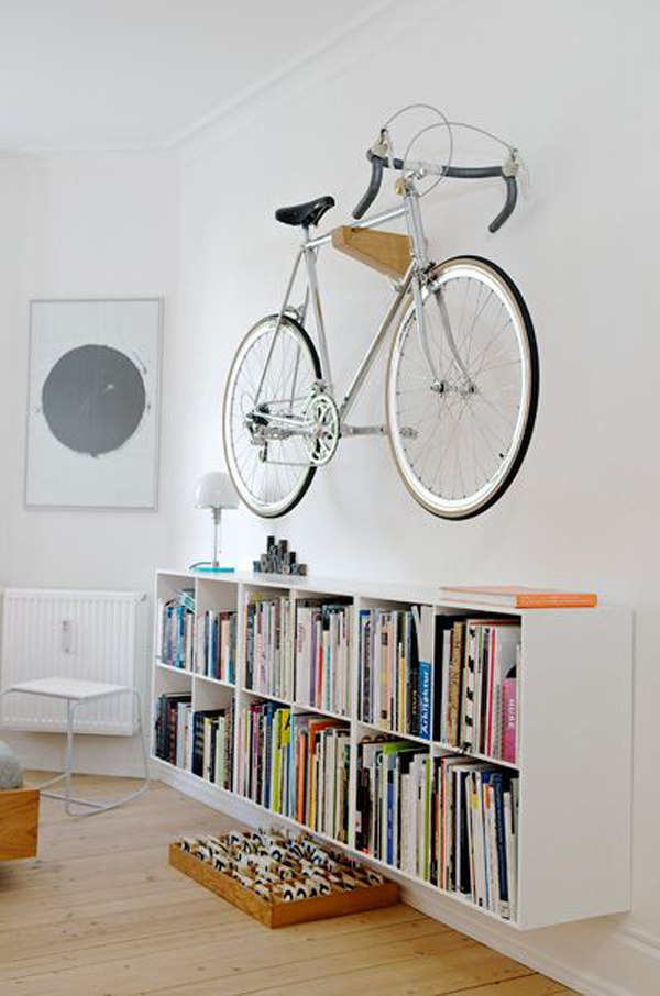 top 25 bike storage solutions into your home house design and decor. Black Bedroom Furniture Sets. Home Design Ideas