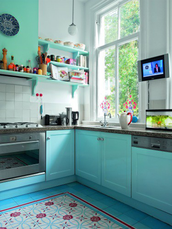 Blue Vintage Kitchen Ideas