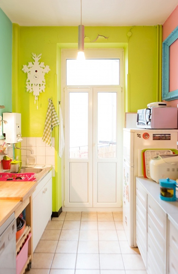Colorful Kitchen Supplies: 20 Colorful Kitchen Ideas In Small Spaces