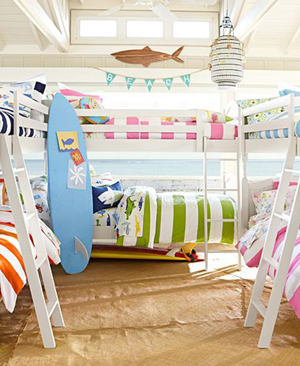colorful surfboard bedroom decor. 25 Extraordinary Surf Room Decorations   House Design And Decor