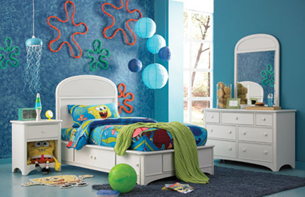 spongebob and bedroom decor