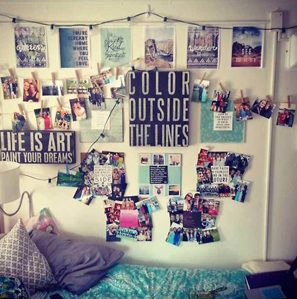20 Cool College Dorm Room Ideas  House Design And Decor ~ 172350_Dorm Room Decorate Walls