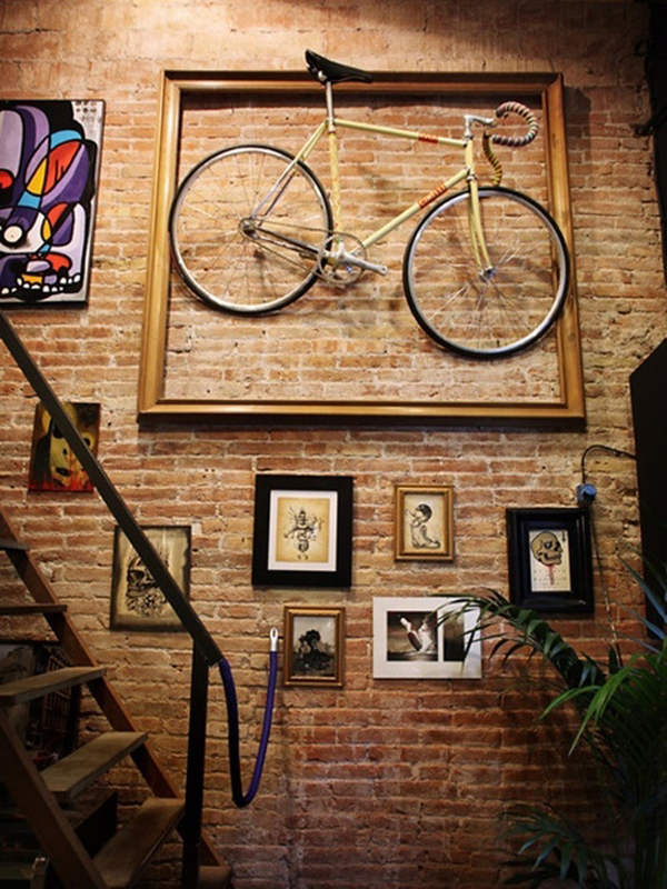 Top 25 bike storage solutions into your home house for Creative bike storage