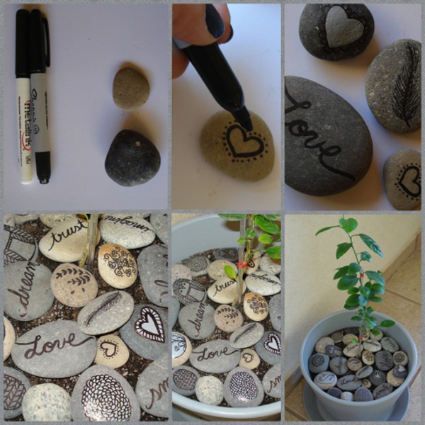 15 Wonderful Pebble Design Into Your Home Decor House