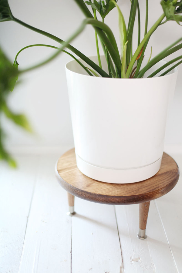Diy plant stand pot with mid century ideas house design for Diy wall plant holder
