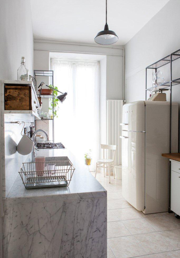 Intimate and Cozy Kitchens with Carrara Marble