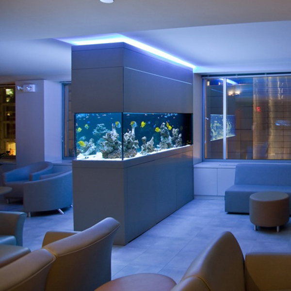 20 modern aquarium design for every interior house design and decor. Black Bedroom Furniture Sets. Home Design Ideas