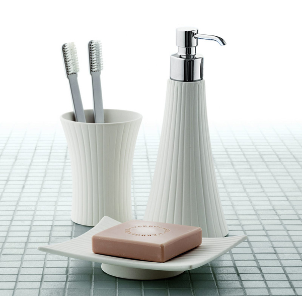 modern bathroom appliances set