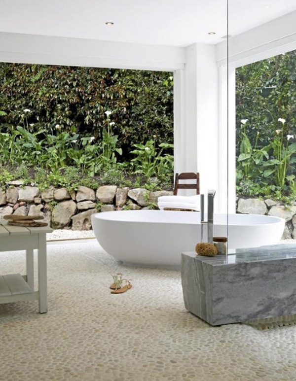 Modern Semi Outdoor Bathroom